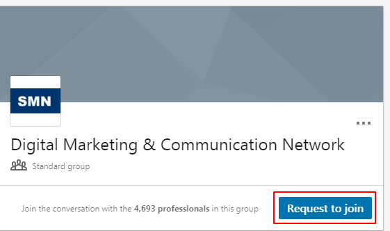 LinkedIn request to join
